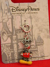 Disney Parks Mickey Mouse Charm for Silver Bracelet Dangle 60th NEW