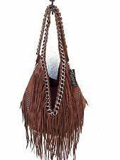 Kippys (Tortuga Sante Fe) Leather Handbag - Fringe & Spikes Shoulder Bag Purse