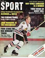 1968 (Apr) Sport Magazine, Hockey, Bobby Hull, Chicago Blackhawks ~No Label Fair