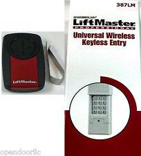 375UT +387LM Liftmaster Universal Remote+Keypad GENIE 373 KLIK1U KLIK2U 973