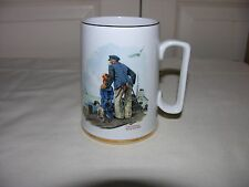 Norman Rockwell Looking Out To Sea 1985 Museum Glass Mug