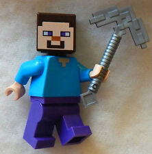 NEW LEGO STEVE with PICKAXE MINIFIG minecraft 21113 21118 pick axe cave mine