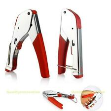 #QZO RG59/RG6 Coaxial Plier Network Cable Stripper Wire Crimper Stainless Steel