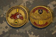 Challenge Coin US Army 1st Plt B Co 1st Tank Black Knights Red Dawgs 2d Infantry