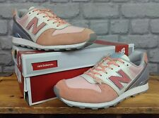 NEW BALANCE 996 LADIES UK 6 EU 39 PINK SILVER SUEDE TRAINERS RRP £85