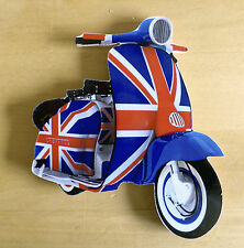 Scooter Fridge Magnet, Mod Union Jack Scooter fridge magnet, LI TV SX GP Scooter