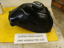 87 88 HONDA TRX125 TRX 125 FOURTRAX GAS FUEL TANK CELL CAP PETCOCK OEM NO RUST