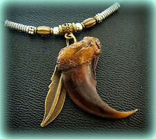Indian style BEAR CLAW replica NECKLACE Pendant  Wild Animal CLAW Jewelry