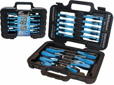 58 PC Screwdriver Bit Precision Slotted Torx Phillips Tool Kit Set & Carry Case