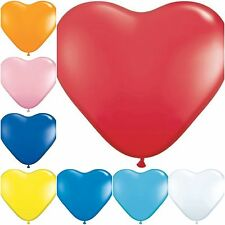 """100 QUALITY 10"""" RED BALOONS HEART BALLOONS BALLONS HELIUM OR AIR LATEX  PARTY"""