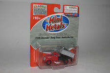 CMW MINI METALS HO SCALE '41/46 CHEVROLET DUMP TRUCK - SWIFT'S RED CAB