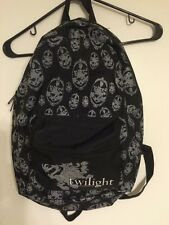 TWILIGHT New Moon Eclipse Breaking Dawn Cullen Crest Logo Book Bag Backpack