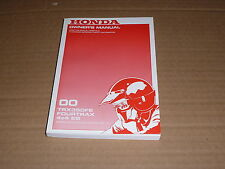 OWNER'S MANUAL HONDA TRX 350 FE FOURTRAX 4X4 ES 2000-