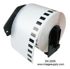 1 Roll of DK-2205 Brother-Compatible (Continuous) Labels [BPA FREE]