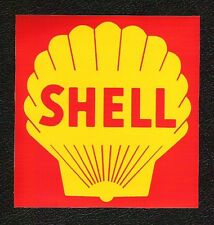 Classic Shell Oil Sticker, Vintage Sports Car Racing Decal