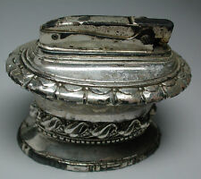 Post WW2 Antique Vintage RONSON WALDORF Table Lighter Silver Plate