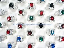 20 rings wholesale jewelry lot rhinestone ring vintage retro bulk fashion