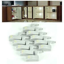 10 x Universal Home Hardware Cabinet Cupboard Hinge Warm/cold white LED Light