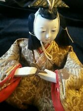 Antique Gofun Japanese Doll Male Japan Brocade Asian Dolls Collectors