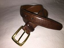 Nordstrom Men's size 36 Brown Leather Belt Brass buckle
