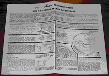 COX AVION .049 MUSTANG FIGHTER & P51 TROPHY RACER PLANE INSTRUCTION MANUAL 049
