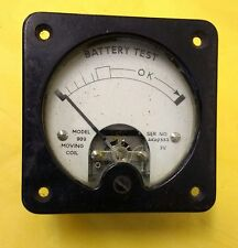 VINTAGE BATTERY TEST METER GAUGE - STEAMPUNK ELECTRICITY