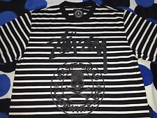 [ XL ] STUSSY MASTERMIND JAPAN LOOPWHEELER CIRCLE SKULL TEE T-SHIRT BLACK/BLACK