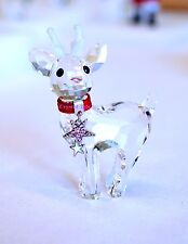 Swarovski Crysta Christmas Baby Reindeer Red Collar 5000424 Brand New In Box
