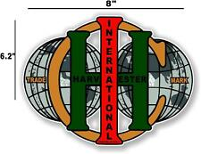 """8"""" INTERNATIONAL IH WORLD - HIT AND MISS GAS ENGINE TRACTOR DECAL"""