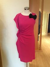 James Lakeland Dress Bnwt Pink With Black Bow Trim Size18 RRP £159 Now £35