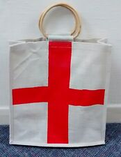 Cross of St George Flag Style Jute Carrier Bag,Size Large 370x390x130mm @ £5.95p