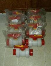 "Orion 2"" PVDF Ball Valve Ultrapure Water Full Port DN50 PN16 Acid/Base Resistant"