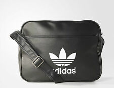 Adidas Originals Classic Airliner Shoulder Messenger Bag Black -- AB2709