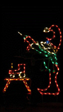 Animated Christmas Elf w Drill Outdoor LED Lighted Decoration Steel Wireframe