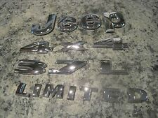 2005 Jeep Liberty Limited CHROME Emblem Set 3.7L and 4x4 OEM Nice