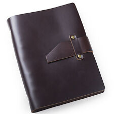 Ancicraft Simple Classic Refillable Leather Journal With Strap A5 Binder Blank