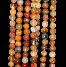 6MM MIXED RUTILE QUARTZ  GEMSTONE INCLUSIONS ROUND 6MM LOOSE BEADS 15.5""