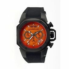 NEW Morphic MPH3505 Mens M35 Collection Orange Dial Black Silicone Sport Watch