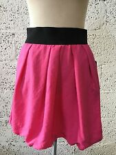 ZARA BASIC PINK TULIP MINI SKIRT FLIRTY SUMMER SHORT BNWT M UK 10/12 Z75