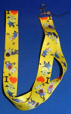 "Minions 18"" Lanyard/Badge Holder/Keychain Despicable Me"