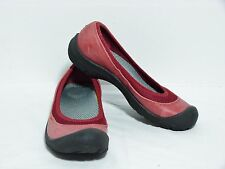KEEN Erin Ballerina Red Leather & Mesh Ballet Flats Shoes Women's 6.5-7 ? US VGC
