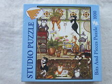 HANGING AROUND IN GREENHOUSE Linda Jane Smith - Bits & Pieces 1000 pc Puzzle NEW