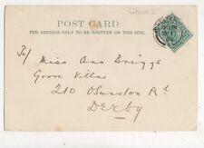 Miss Ann Briggs Grove Villas Osmaston Road Derby 1903 708a