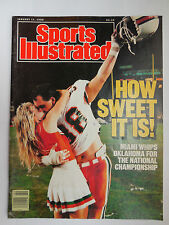 January 11, 1988 Sports Illustrated MIAMI wins National Championship - Excellent