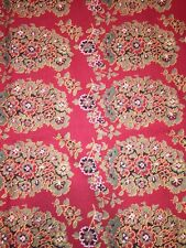 Pottery Barn Greta Red Yellow Sage King Duvet Cover and 3 PB Quilted Euro Shams