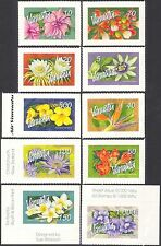 Vanuatu 2006 Flowers/Vines/Trees/Plants/Nature/Lily/Hibiscus 10v s/a set n43196