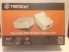 TRENDnet TPL-308E2K/A POWERLINE 200 AV NANO ADAPTER KIT NIB DIY