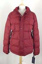 NEW $195 Tommy Hilfiger Puffer Red Ultra Loft Jacket Mens Sz Large Coat Wind Res