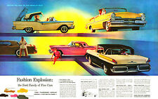 1957 Ford Family of Cars Fashion Exsplosion Ad  8 x 10 Giclee Print