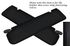BLACK STITCHING FITS MERCEDES VITO W638 96-03 2X SUN VISORS LEATHER COVERS ONLY